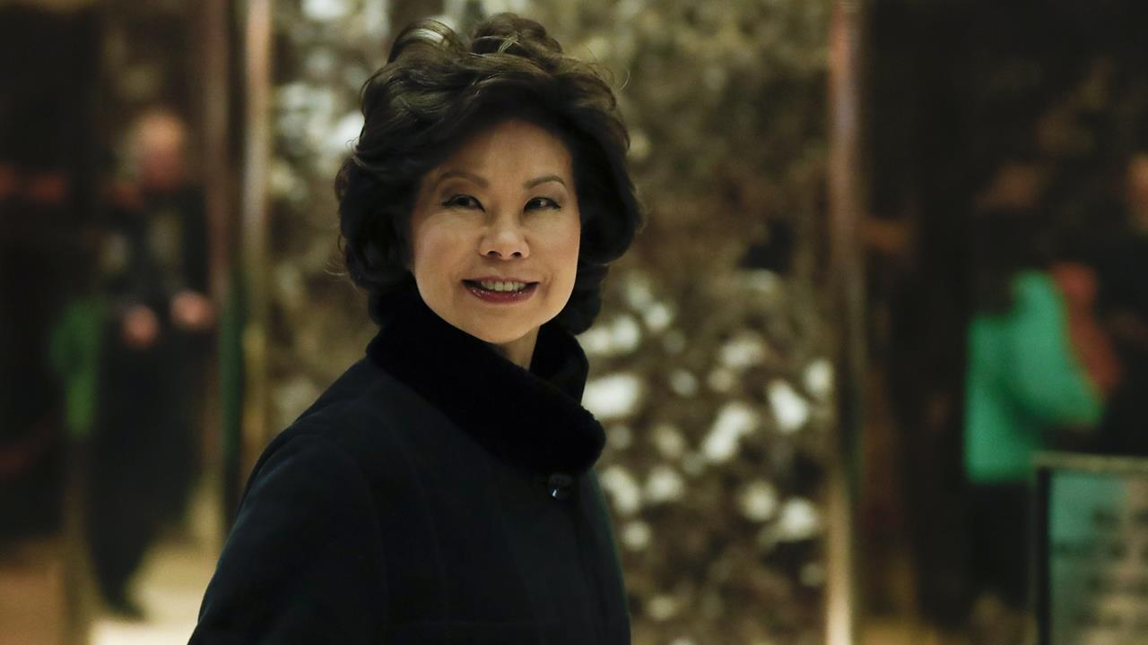 Transportation Secretary Elaine Chao on autonomous vehicles, the Trump administration's efforts to boost America's infrastructure and the brief government shutdown.