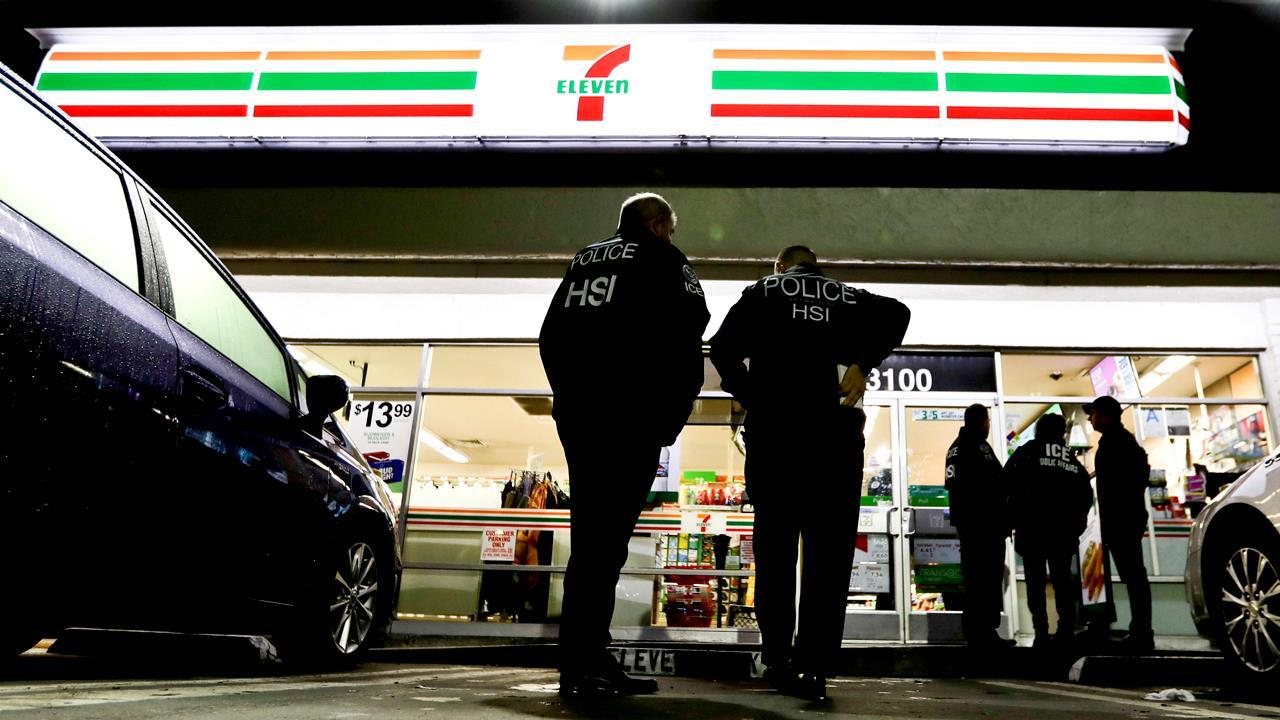 ICE Acting Director Tom Homan on ICE's raids of 7-Eleven stores across the country, a border wall and immigration reform.