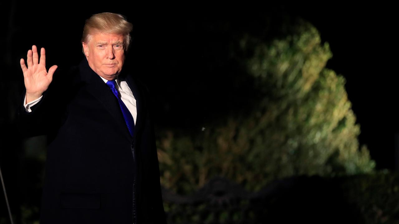 President Trump speaks with global leaders at the World Economic Forum in Davos, Switzerland, including Novartis CEO Vas Narasimhan and SAP CEO Bill McDermott. .