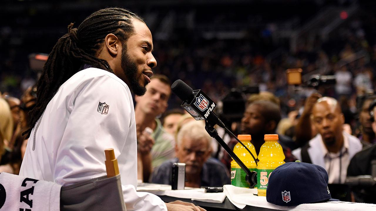 Seattle Seahawks' Richard Sherman sounds off over NFL Commissioner Roger Goodell's feud with Dallas Cowboys owner Jerry Jones, the health and safety of players and his own future in the upcoming season.