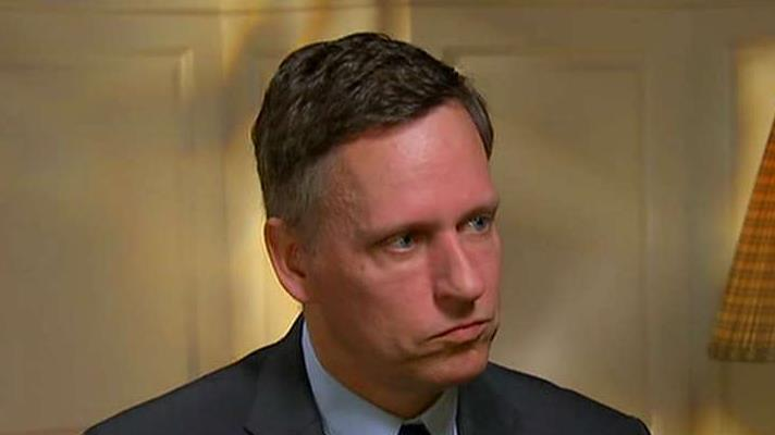 PayPal cofounder Peter Thiel in a wide-ranging interview on President Trump's trade tariffs, China's economy, technology regulations and his outlook for bitcoin.
