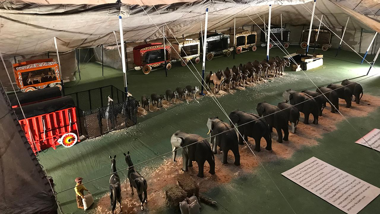 A daughter finds a surprising home for her father's hand-carved 60,000-piece miniature circus which had toured the world in 1923.