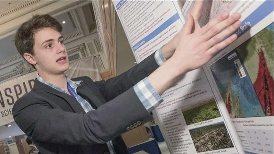 Regeneron Science Talent Search winner Benjy Firester on his prize-winning science project that could be used to help farmers prevent crop damage.
