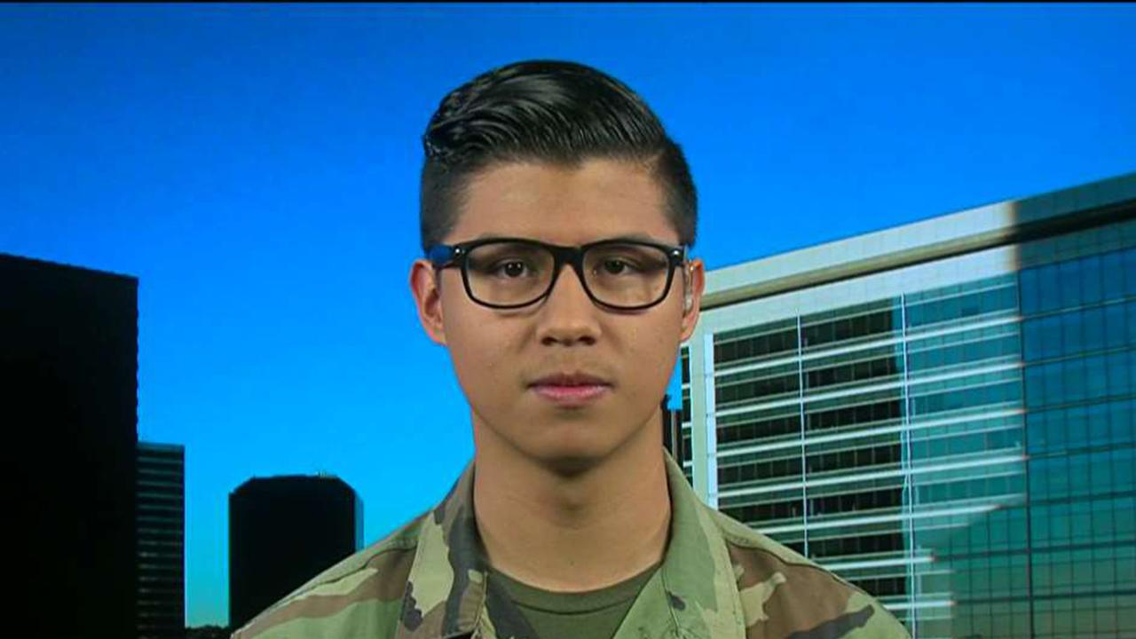 California high school student Victor Quinonez discusses how he was able to record his teacher's anti-military rant and why he posted the speech online.