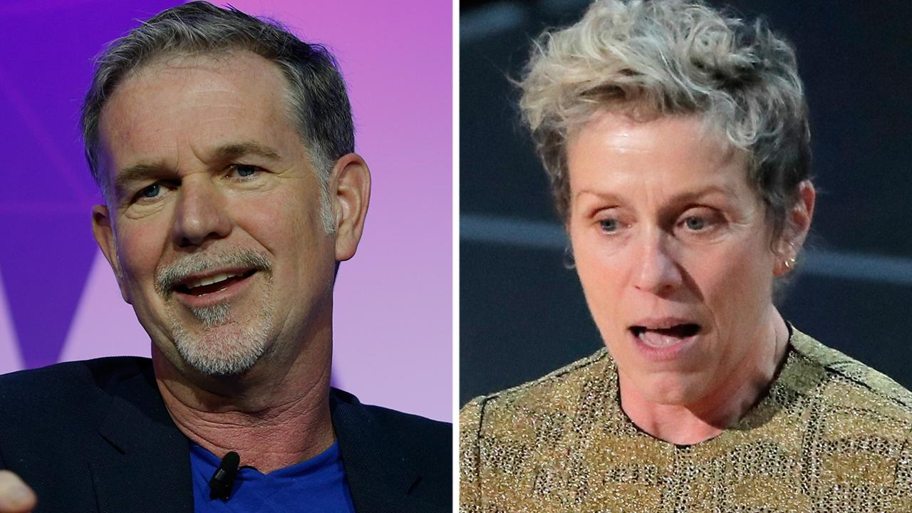 Fox Business Outlook: Netflix CEO Reed Hastings not on board with Frances McDormand's Oscar speech call for contracts that demand more diversity in hiring cast and crew.