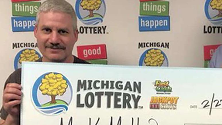 FBN's Stuart Varney on a Michigan man winning the lottery three times in one day.