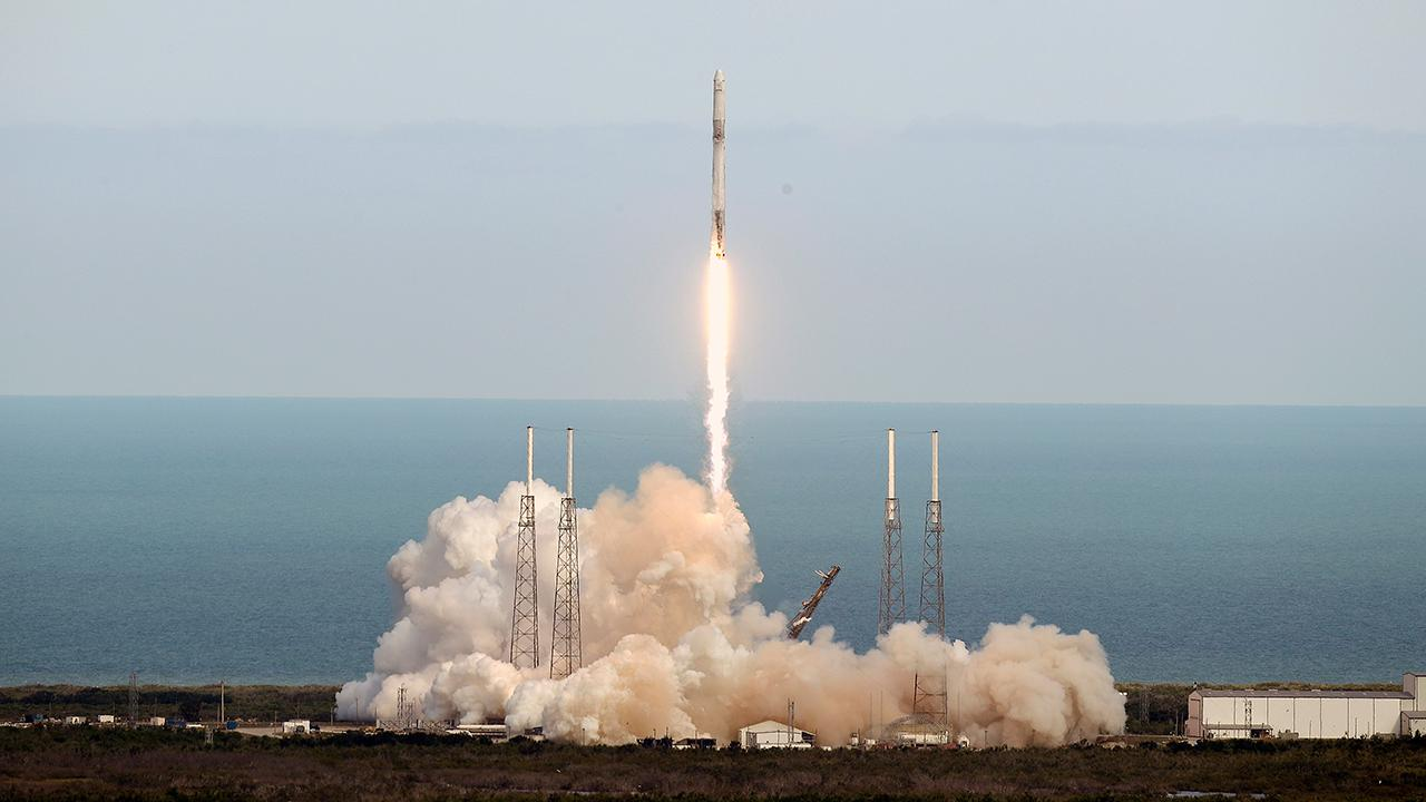 Former NASA astronaut Tom Jones reacts to SpaceX's launch of a Falcon 9 rocket and how the company helps lower the cost of sending supplies into space.
