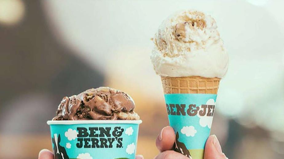 FBN's Tracee Carrasco on Ben & Jerry's giving away free ice cream cones today.