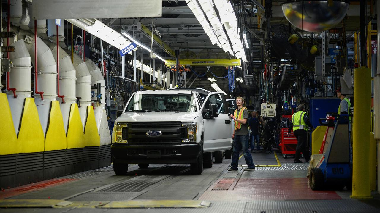 FBN's Jeff Flock on Ford halting production of the F-150 truck.