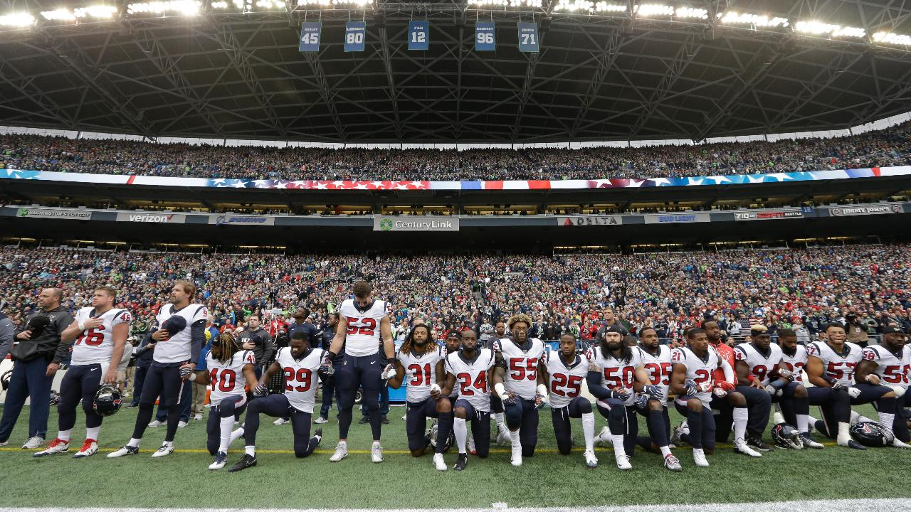 FBN's Kristina Partsinevelos on the NFL's new national anthem policy.