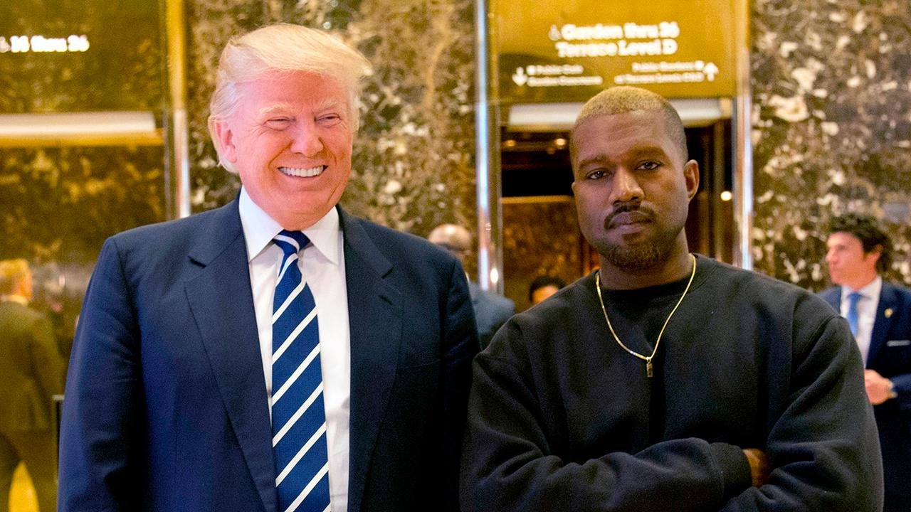 President Donald Trump touts the unemployment rate and thanks Kanye West for doubling his poll numbers with African-Americans.