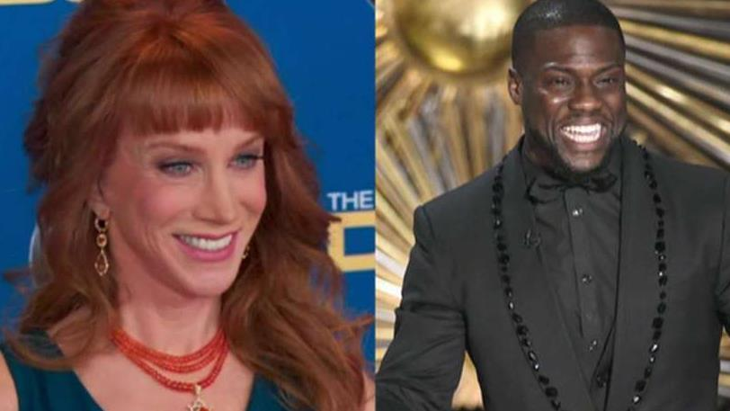 Kathy Griffin is blasting fellow comedian Kevin Hart for refraining to attack President Donald Trump in his stand-up routines.