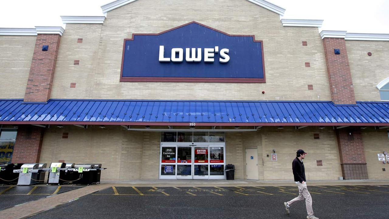 Fox Business Briefs: Lowe's suspends its practice of checking customers' receipts at the exits of its stores after a customer accuses the retailer of racial profiling.