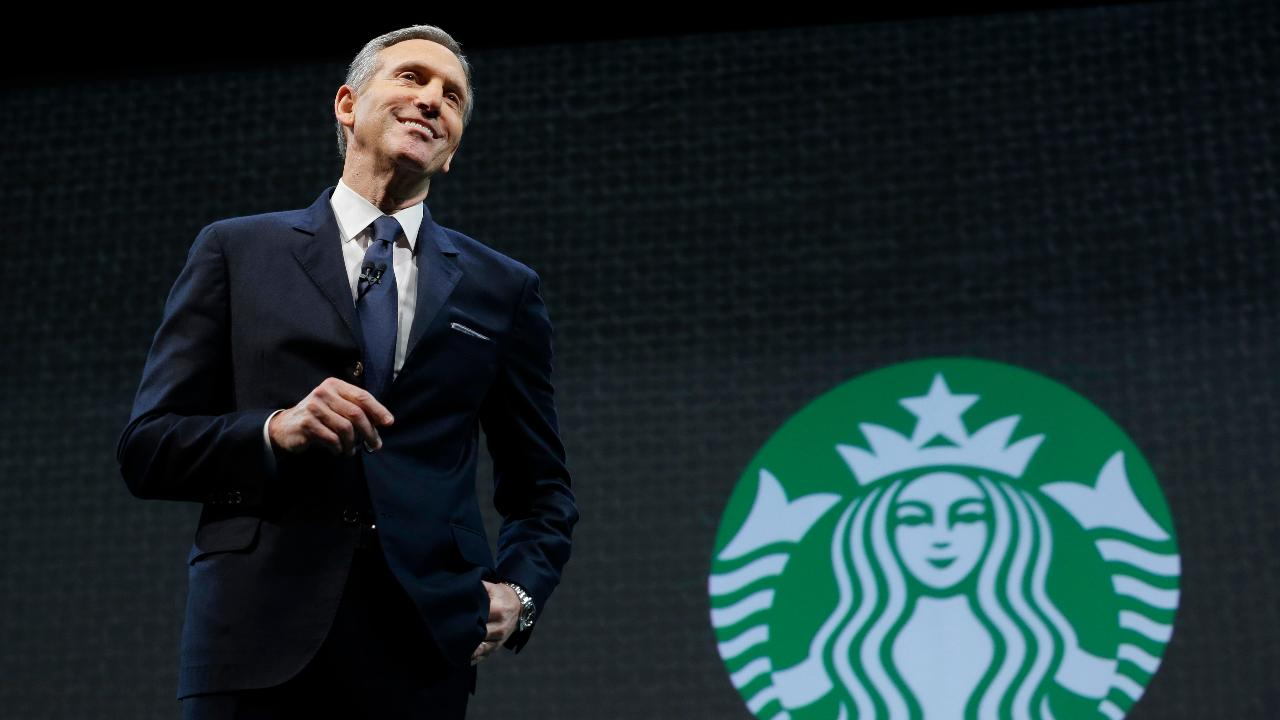 Former Gov. Mike Huckabee, (R-Ark.), CFRA Investment strategist Lindsey Bell and Wall Street Journal Global Economics Editor Jon Hilsenrath on Howard Schultz stepping down as Starbucks executive chairman and the resistance facing President Trump.