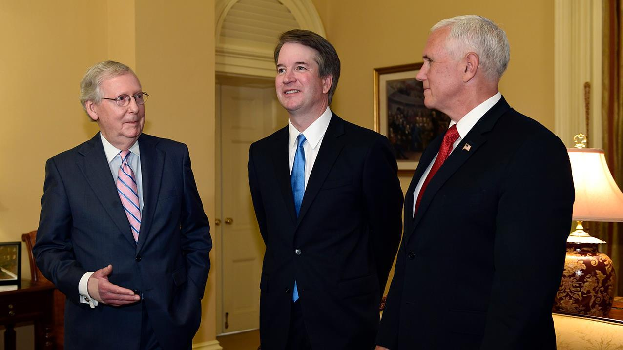 Former Clerk for Judge Kavanaugh Hagan Scotten and former Clerk for Justice Scalia Ed Whelan on how much pushback Judge Kavanaugh will receive from Democrats.