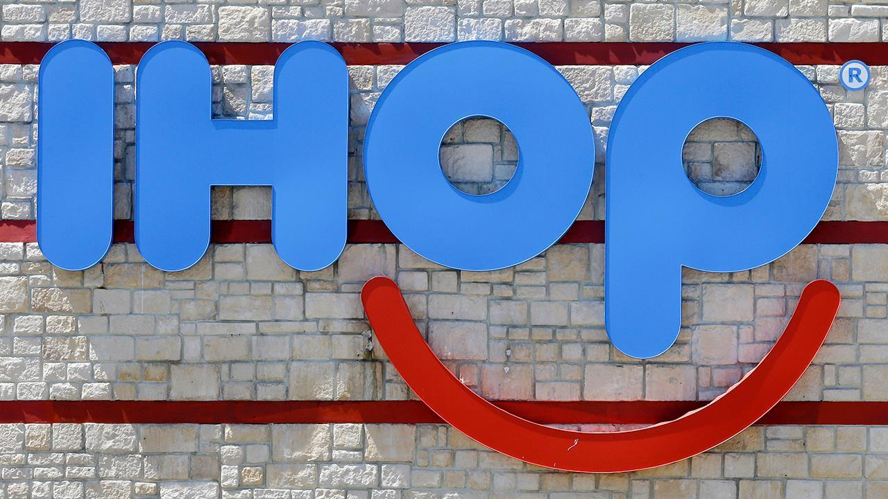 FBN's Cheryl Casone on IHOP announcing its claims it was changing its name to IHOb was a marketing gimmick and its name will remain the same.