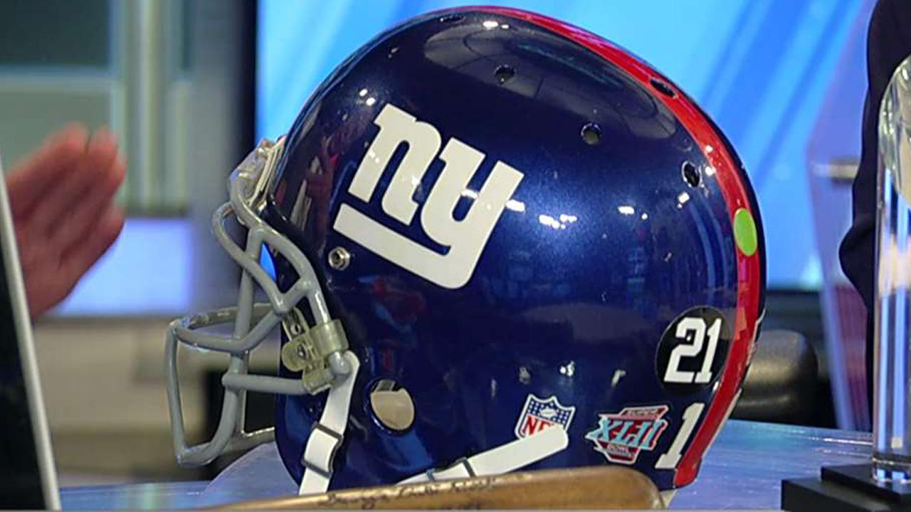 A number of famous sports items -- including Eli Manning's helmet from 2008, and Babe Ruth's bat from 1932 -- are currently available for auction.