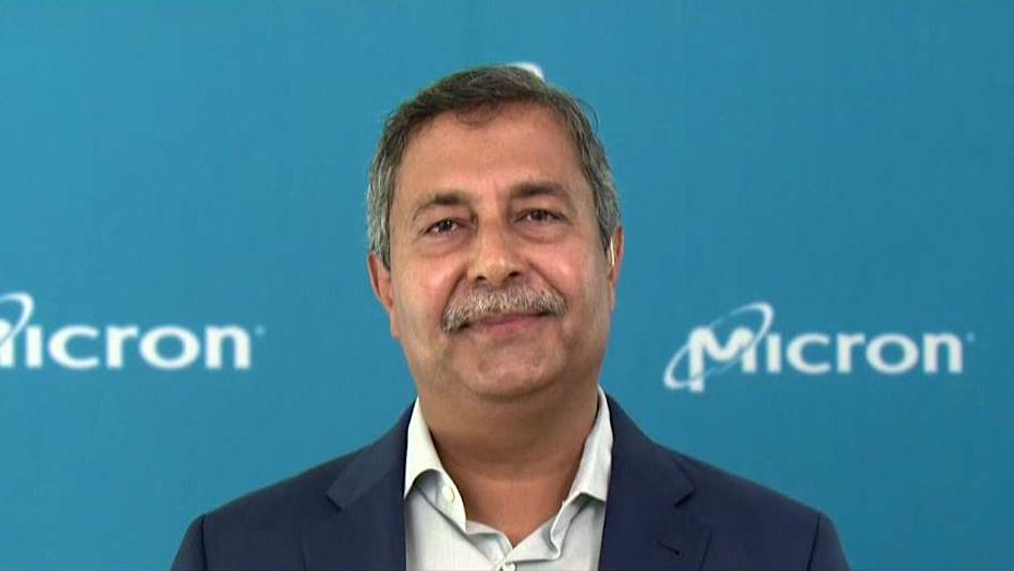 Micron Technology CEO Sanjay Mehrotra discusses his company's plan to spend $3 billion over the next 12 years to expand a plant in Virginia and how the investment will lead to the creation of new jobs.