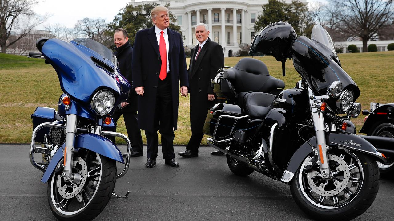 Bikers for Trump founder Chris Cox discusses how President Trump supports Harley-Davidson owners who may boycott the motorcycle company over its plan to move production overseas.