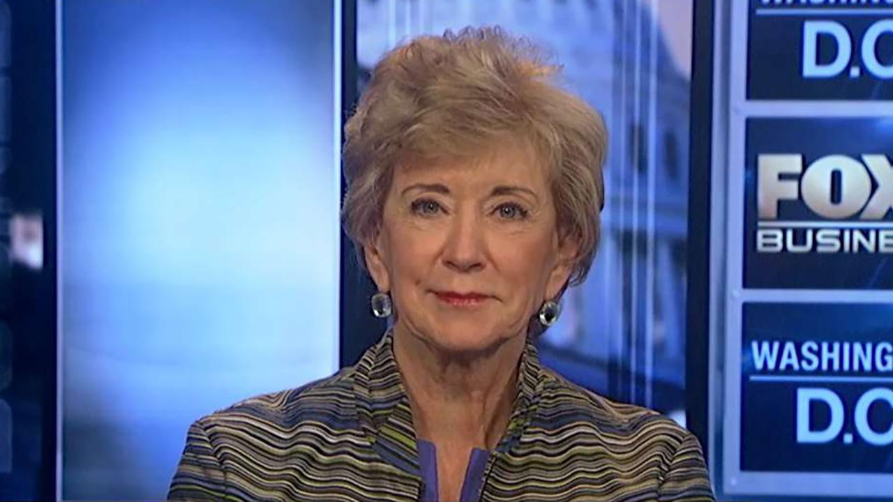 Small Business Administrator Linda McMahon discusses how President Trump's tax cuts have helped small businesses and why loan approvals for small businesses are at an all-time high.