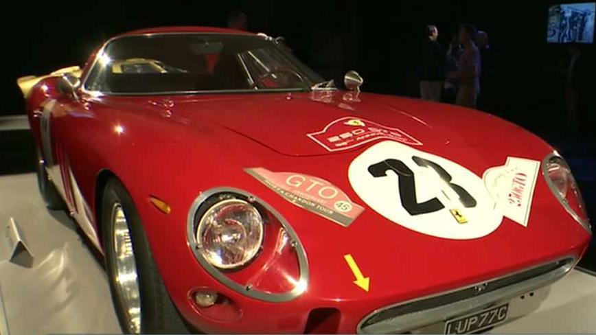FOX Business' Adam Shapiro reports from the auction house of the world‑renowned Pebble Beach Concours d'Elegance in California.