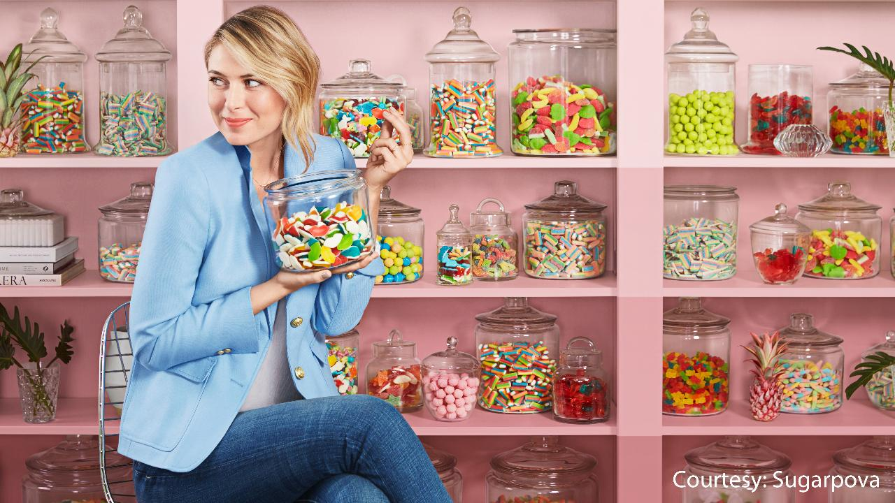 U.S. Open star Maria Sharapova talks about the ups and downs of launching her candy brand ahead of the tournament.