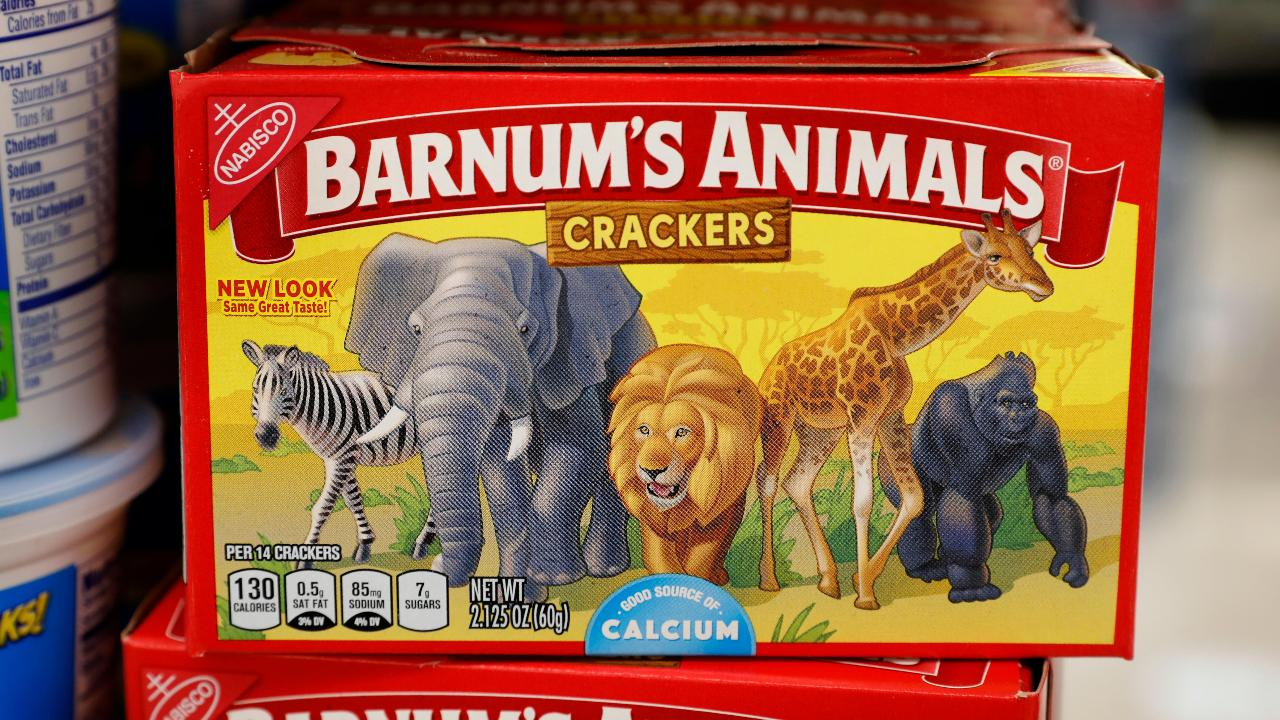 FBN's Cheryl Casone on Nabisco's redesign of its Barnum's Animals crackers after pressure from the organization PETA.