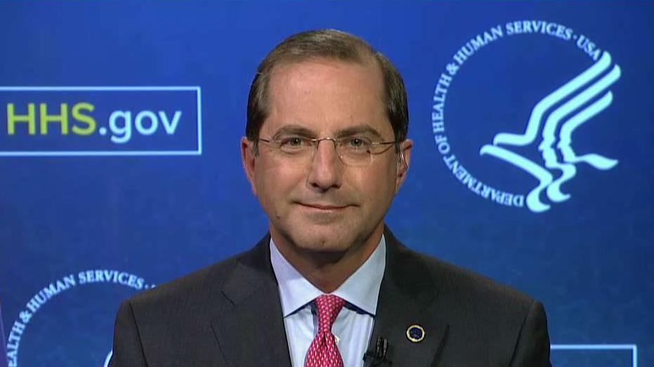 Health & Health Services Secretary Alex Azar discusses the fallout from Hurricane Florence and how the government plans to help the Carolinas provide mental health-care services to residents who were impacted by the storm.