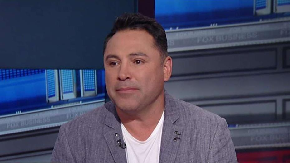 Former world champion boxer Oscar De La Hoya on the upcoming boxing match between Canelo Alvarez and Gennady 'GGG' Golovkin, the national anthem protests, Nike's deal with Colin Kaepernick and the future of boxing.