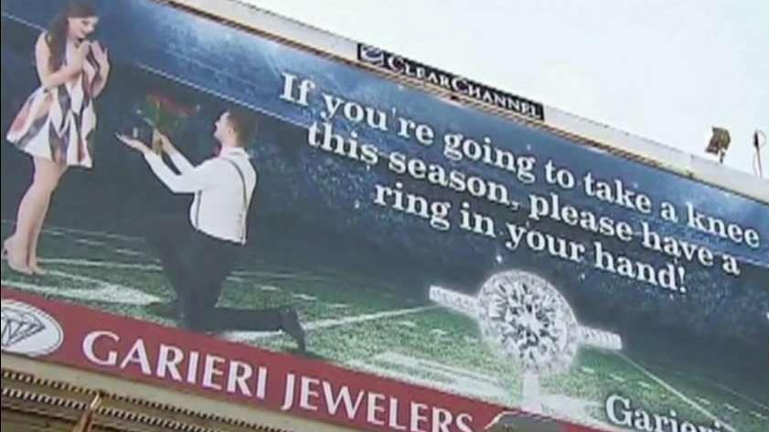 Garieri Jewelers owner Scott Garieri on the backlash over the store's 'take a knee' billboard.