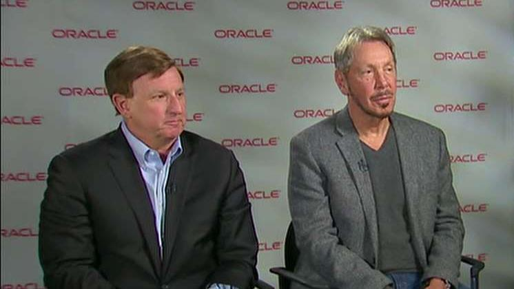 Oracle co-founder Larry Ellison and Oracle CEO Mark Hurd on the company's growth, the success of the company's cloud computing technology and how the company is tackling cyber security.