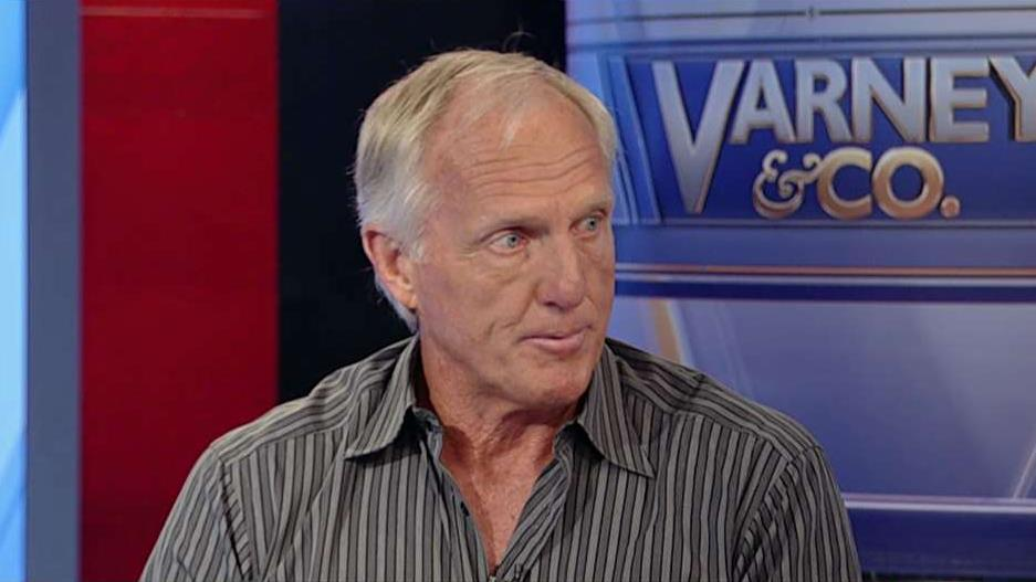 Greg Norman Company CEO Greg Norman on President Trump's impact on the U.S. economy and perceptions of the country and his company's investment in virtual sportscasting company Spalk.