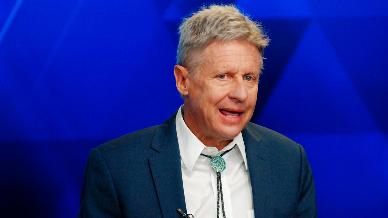 New Mexico Senate candidate Gary Johnson says that the national debt is the biggest issue facing the U.S.