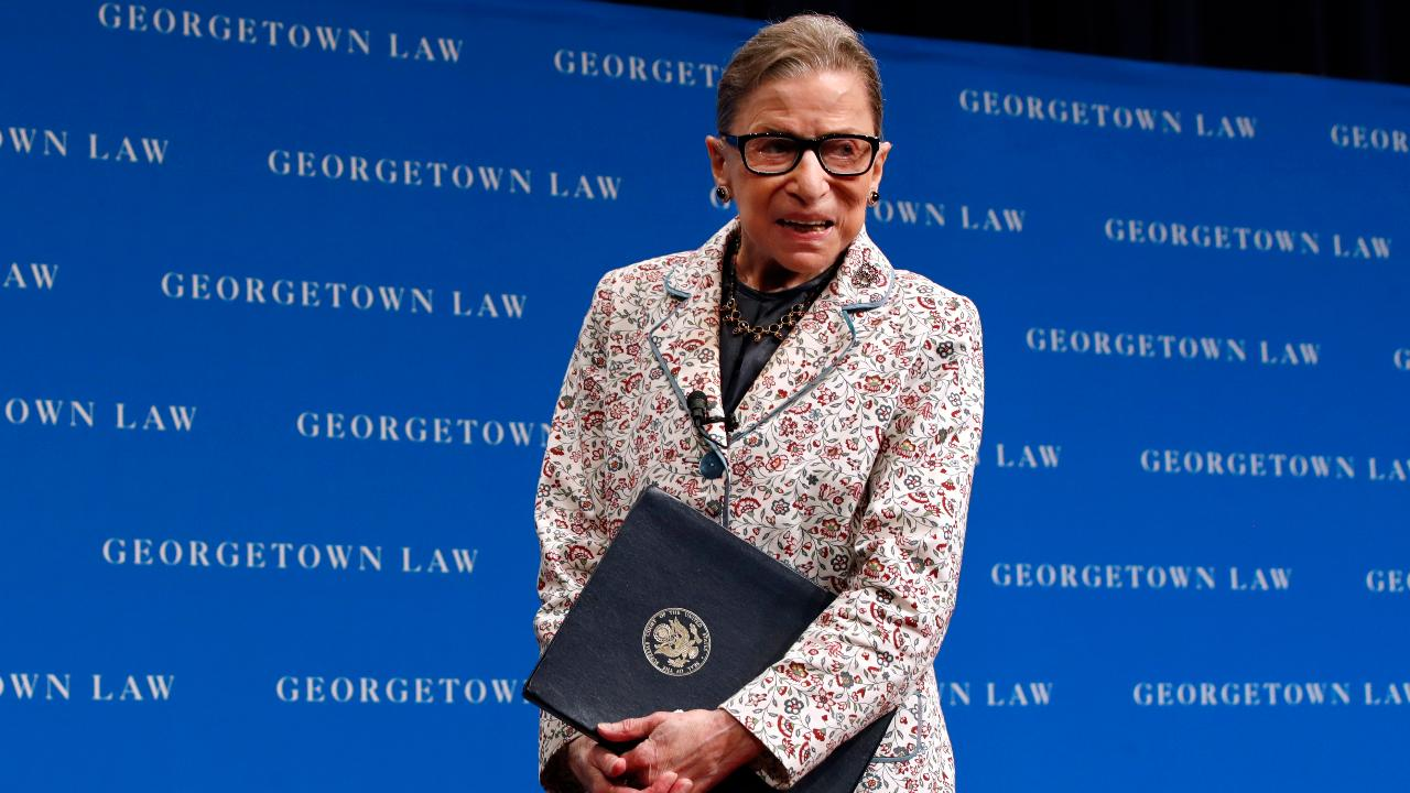 FBN's Stuart Varney on Supreme Court Justice Ruth Bader Ginsburg hospitalized with three broken ribs after a fall in her office.