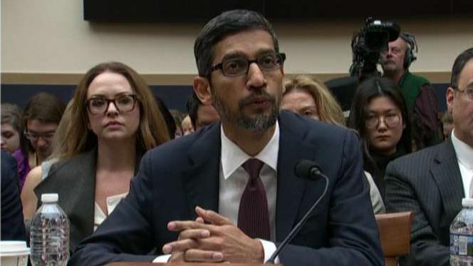 Google CEO Sundar Pichai testifies before the House Judiciary Committee.