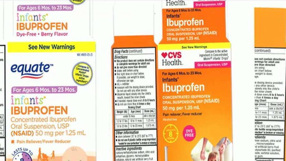 FBN's Cheryl Casone on Tris Pharma's recall of liquid ibuprofen for infants.