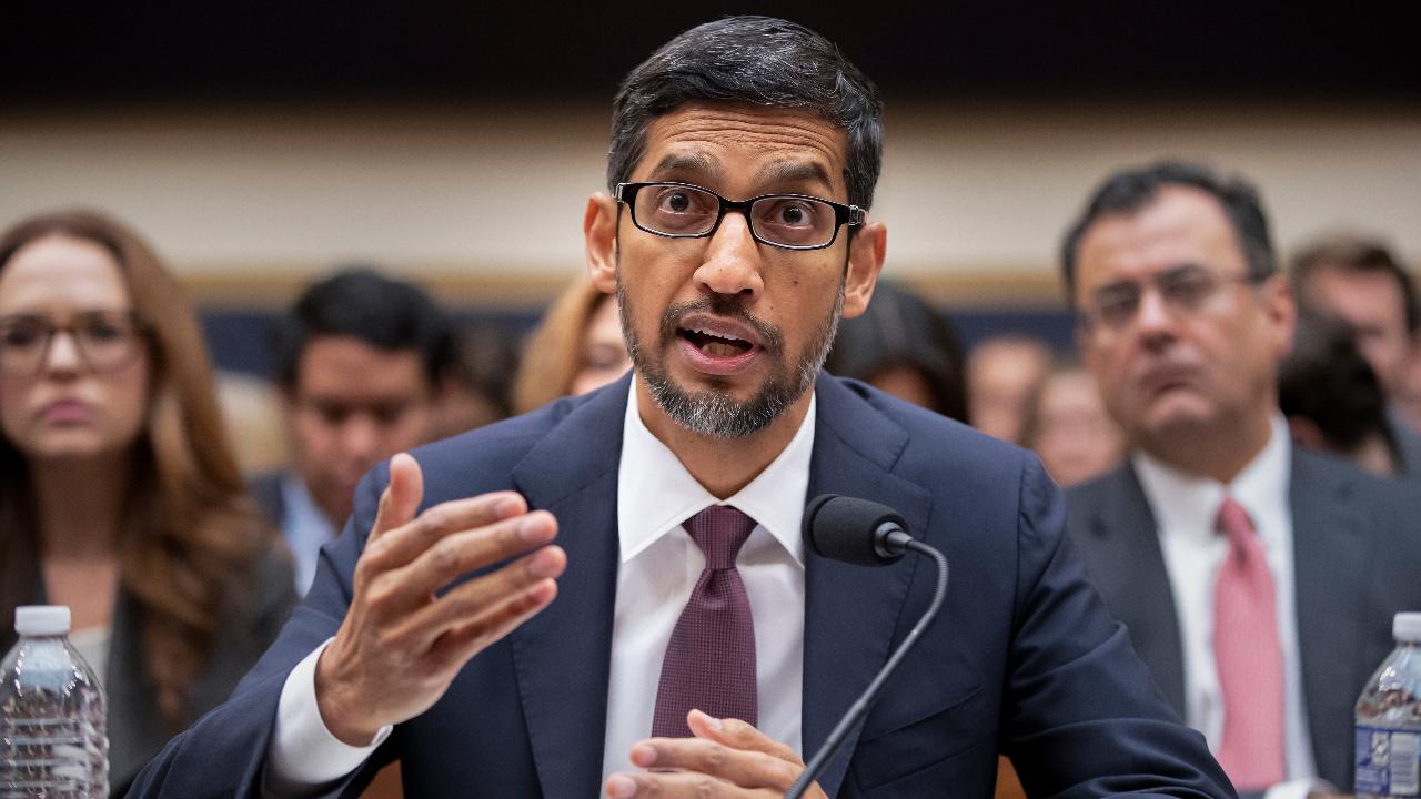FBN's Edward Lawrence on Google CEO Sundar Pichai's testimony on Capitol Hill.