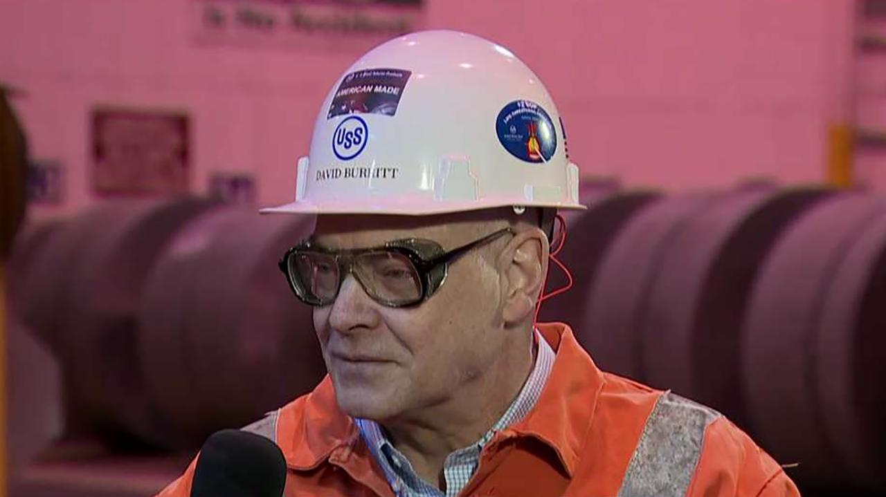 "U.S. Steel CEO David Burritt discusses how President Trump's tariffs have affected his company and the president's fight for ""free trade."""