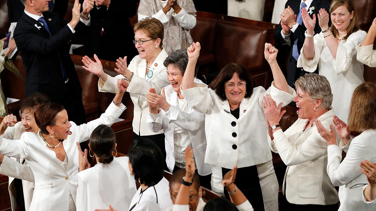 President Trump in his State of the Union address said the thriving U.S. economy has enabled women to fill 58 percent of the new jobs created in the last year.
