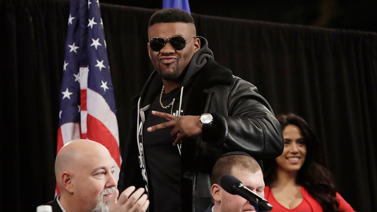 """Heavyweight boxer Jarrell """"Big Baby"""" Miller on his upcoming fight against British boxer Anthony Joshua."""