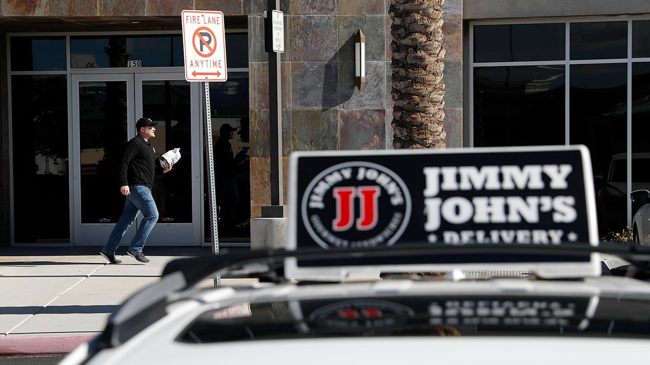 Jimmy John's CEO James North explains why the sandwich chain will not allowed third-party companies like Uber Eats and Grubhub to deliver food to its customers.