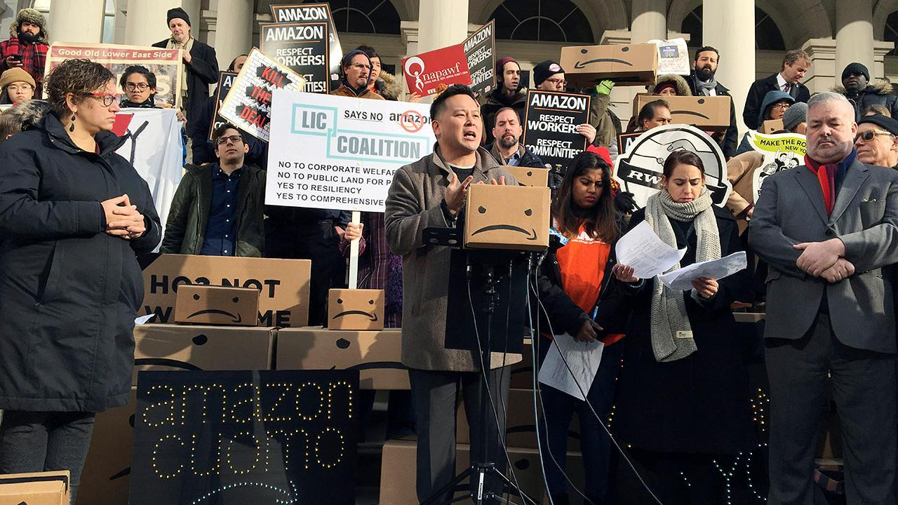 New York State assembly member Ron Kim says tax breaks doesn't attract economic growth as Amazon is reportedly having second thoughts its HQ2 location in New York City's Long Island City neighborhood.