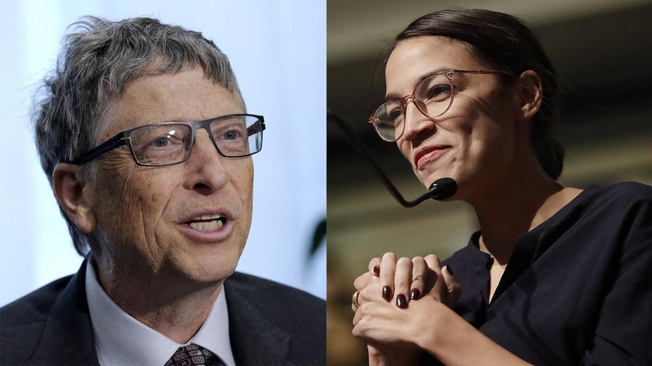 Microsoft co-founder Bill Gates reacts to New York Rep. Alexandria Ocasio-Cortez's tax policies.