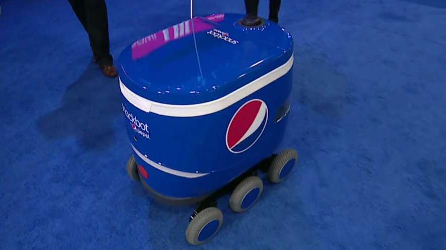 FBN's Cheryl Casone talks to PepsiCo's Jeff Klein about the company's 'Snackbots,' self-driven robots that deliver snacks.