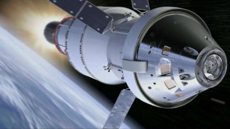 NASA Administrator Jim Bridenstine on the agency's plans to use a commercial rocket for the next Orion crew capsule and the possibility a woman could be the next person to walk on the Moon.