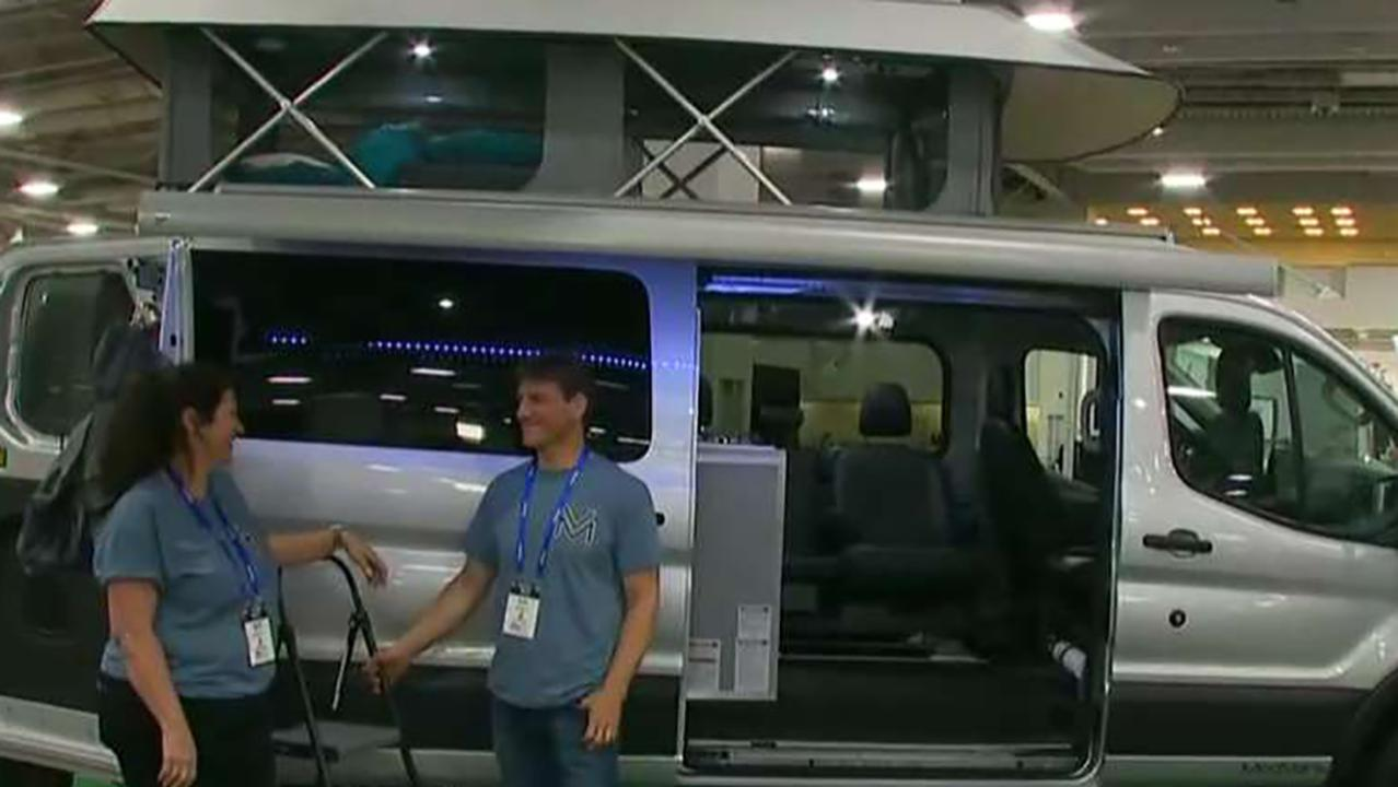 FBN's Jeff Flock speaks with ModVans CEO P.J. Tezza at The RV Experience in Salt Lake City, Utah.