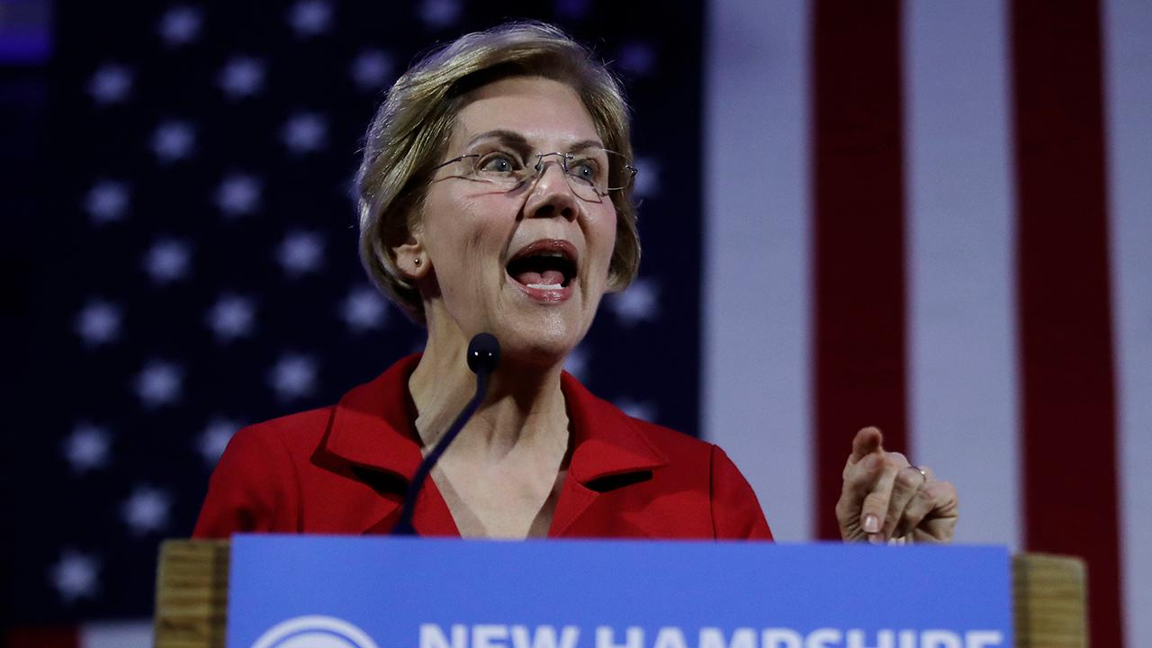 The New Voice CEO Herman Cain discusses Sen. Elizabeth Warren's (D-Mass.) plan to break up big tech companies like Amazon, Facebook and Google.