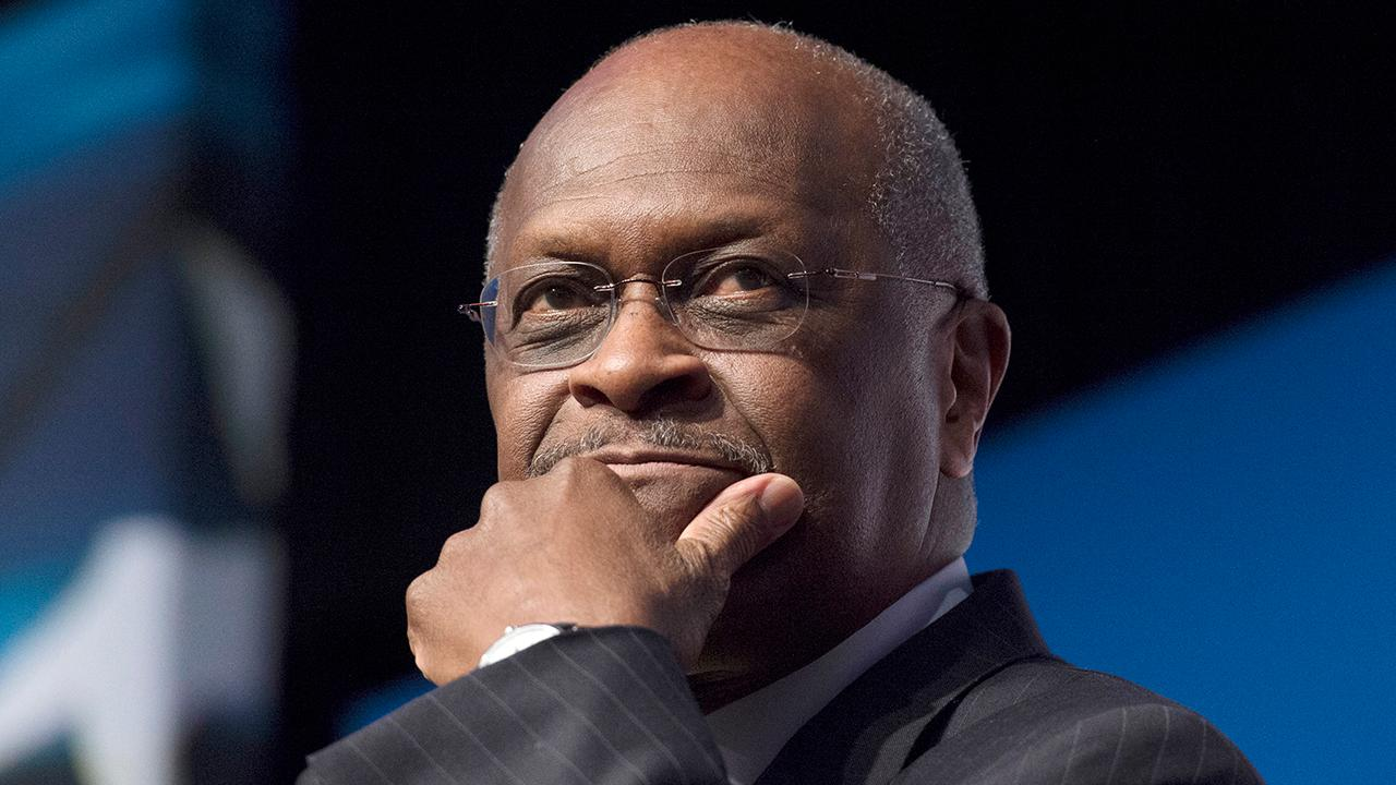 President Trump tells reporters that Herman Cain will ultimately make the decision of whether to move forward with the nomination to the Federal Reserve's board of governors.