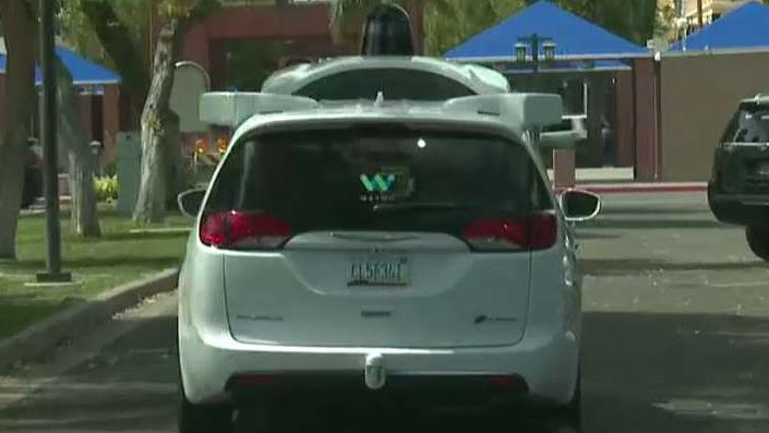 FBN's Liz Claman, during an exclusive interview with Waymo CEO John Krafcik, takes the first live ride in a fully autonomous vehicle.