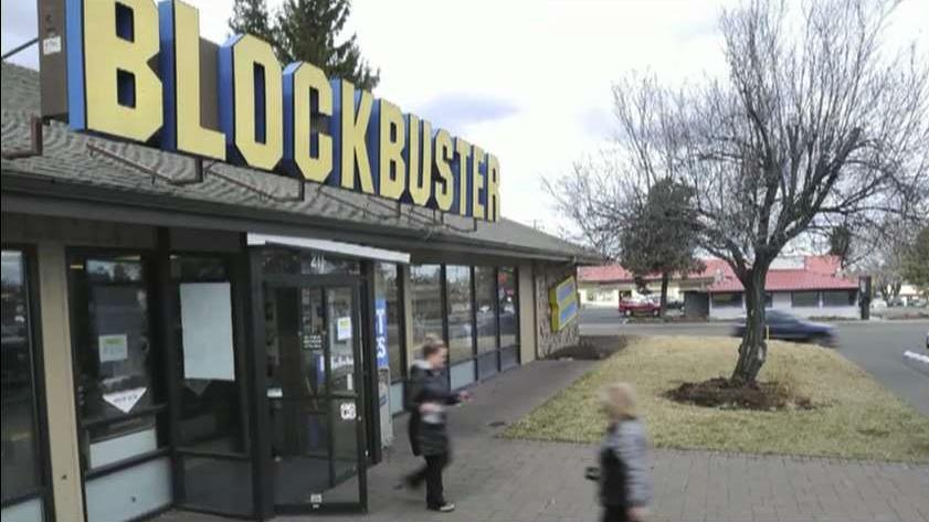 FBN's Kristina Partsinevelos on the last Blockbuster store in the world located in Bend, Oregon.